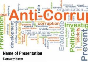 Wordcloud background concept anti corruption
