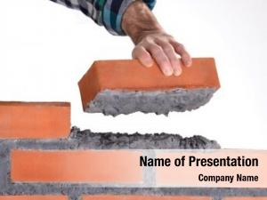 Holding constructor hand brick building