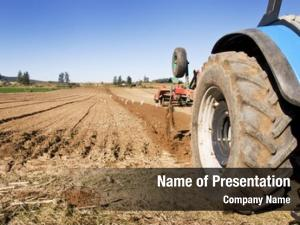 Cultivating tractor implement farm field
