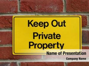 Property sign private