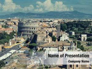 View rome rooftop ancient architecture