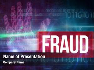 Pink word fraud technology hand