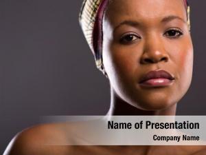 African closeup portrait female beauty