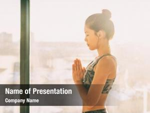 Wellness yoga meditation girl praying