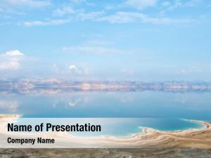 Sea view dead coastline israel