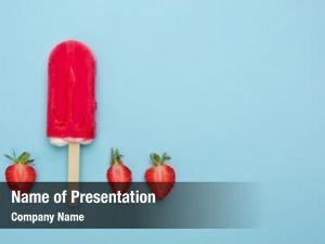 Fresh strawberry popsicle strawberry blue