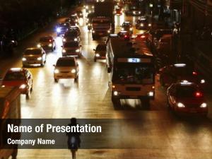 Night city road