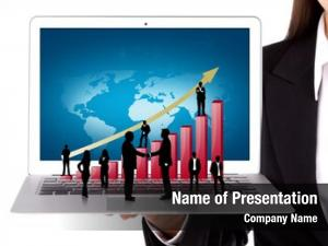 Hold business people laptop silhouette