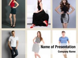 Models collage fashion