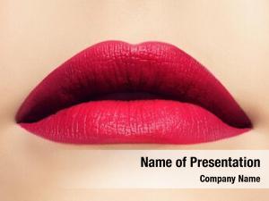 Beautiful closeup shoot lips woman