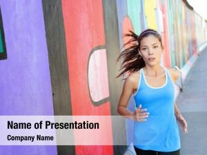 Jogging running woman berlin wall,