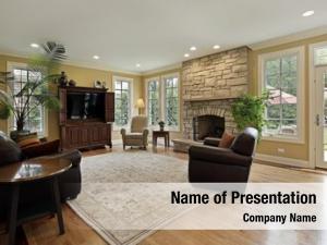 Luxury family room home stone