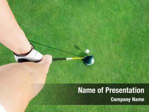Golf golf club ball ready