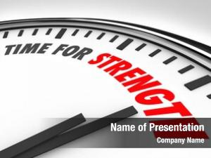 Words time strength clock face