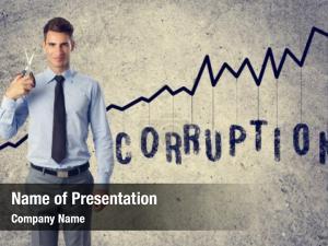 Young cut corruption businessman scissors