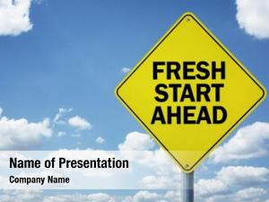 Ahead fresh start road sign