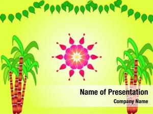 Festival illustration hindu sankranthi design