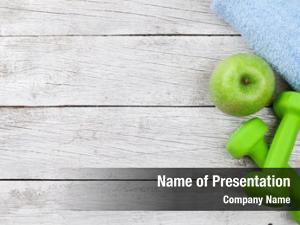 Towel dumbbells, apple wooden