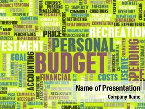 Spending personal budget finances concept