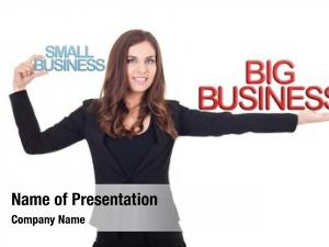 Small businesswoman holding business big