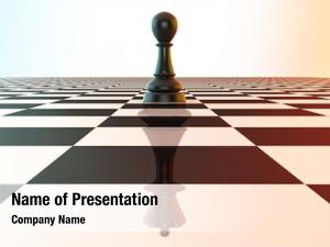 Reflecting chess pawn king