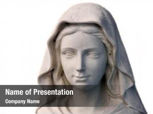 Portrait holy mary statue white