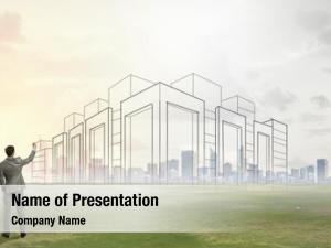 His architect presenting design