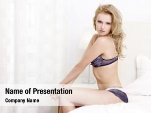 Blond young sexy woman sexy