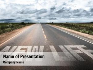 Written new life rural road
