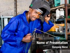 Welder african male welding equipment