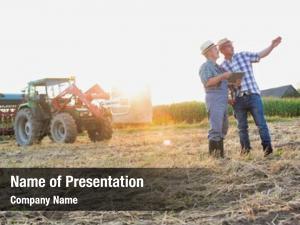 Holding mature farmer soil while