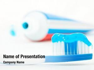 Toothpaste toothbrush blue next tube