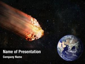 Hitting flaming asteroid earth