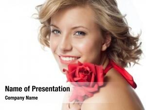 Caucasian portrait attractive smiling woman