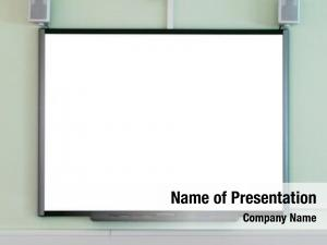 Blank interactive whiteboard add your