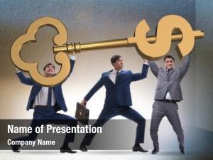 Key businessmen dollar unlocking door