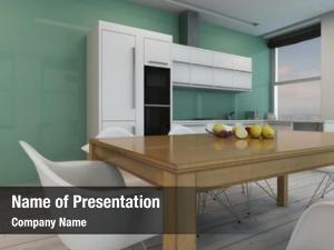Modern stylish minimalist kitchen interior