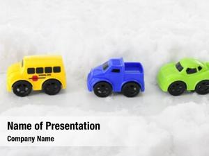 Three high view toy vehicles
