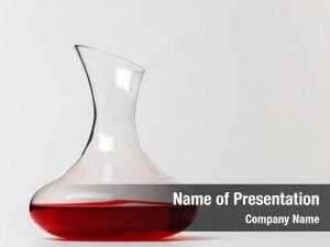 Wine glass carafe white