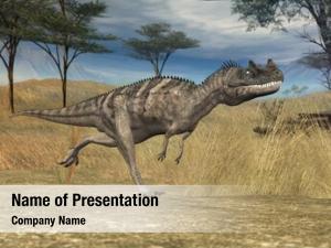 Savanna ceranosaurus prehistoricn
