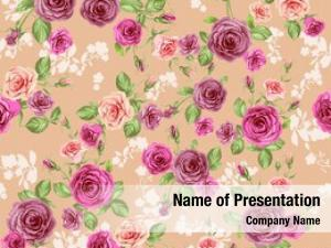 Pastel floral pattern peach