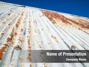 Roof sheet metal old cottage
