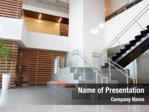 Stairs atrium lobby modern office