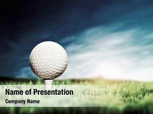 Placed golf ball white golf