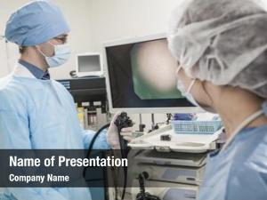 Preparing two surgeons surgery looking