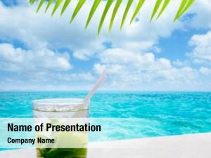 Drik beverage mojito tropical turquoise