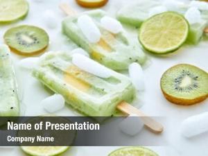 Juice frozen fruit lolly piece