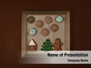 Cookies frame christmas brown wall