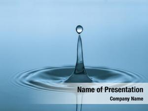 Falling water drop drips water