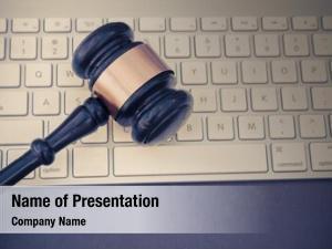 Auction gavel keyboard, bid legal